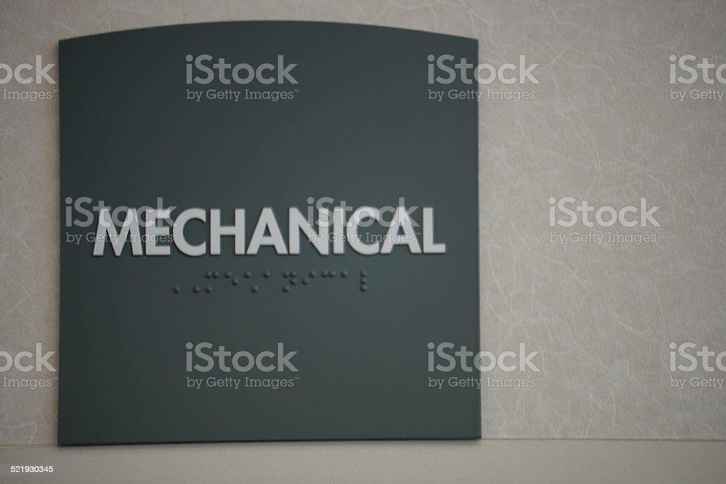 Mechanical sign stock photo