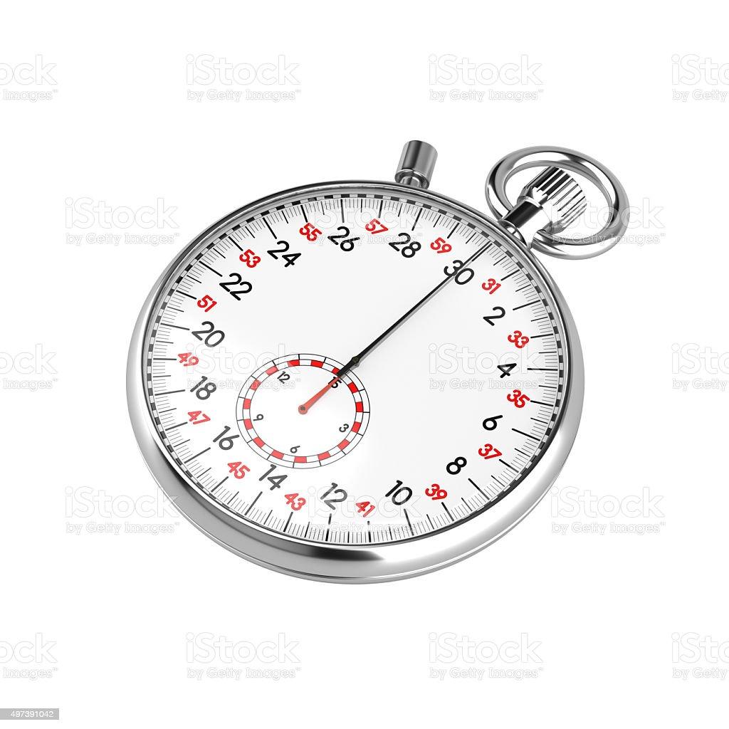 Mechanical stopwatch illustration stock photo