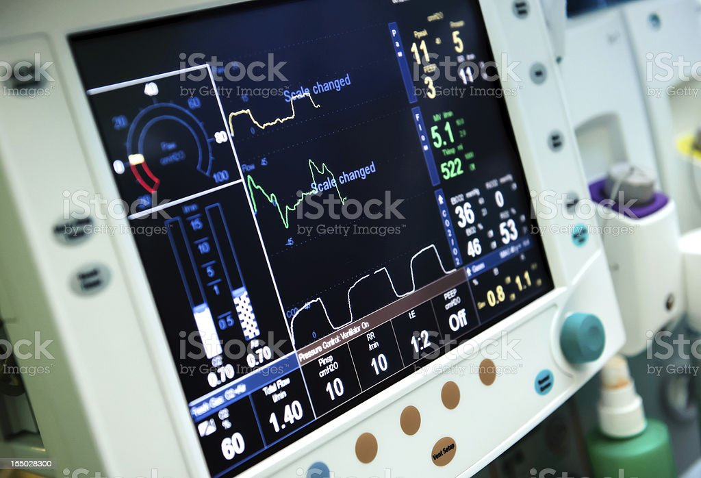 Mechanical ventilation royalty-free stock photo