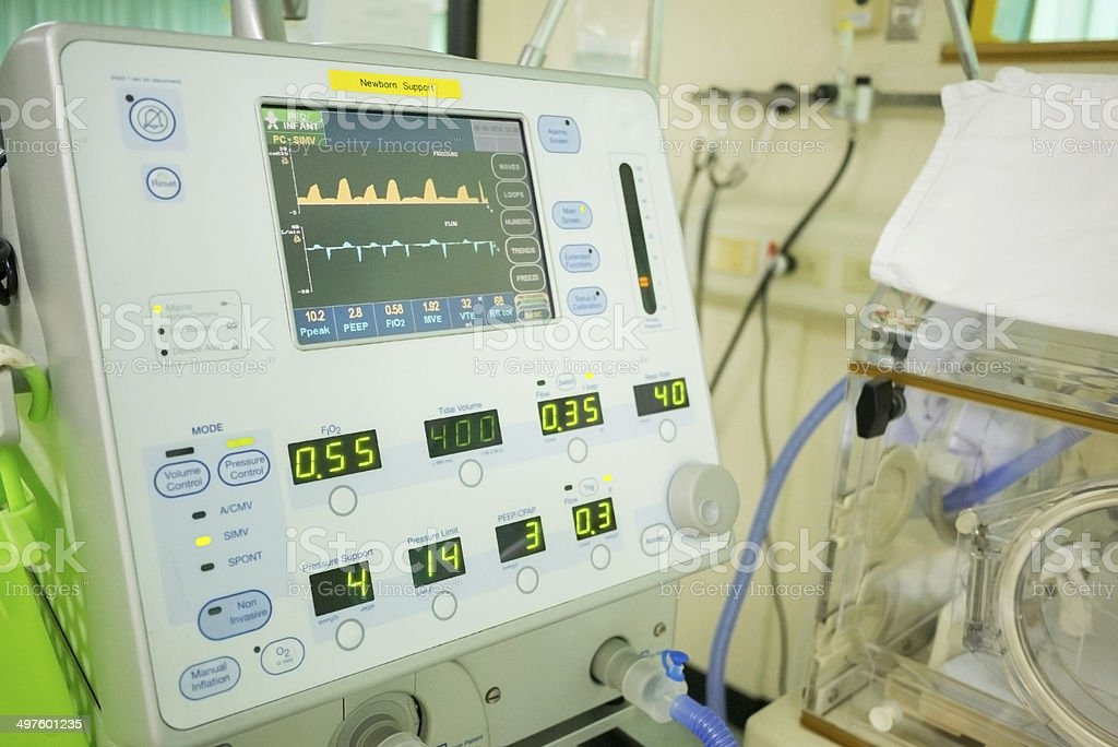 mechanical ventilator stock photo