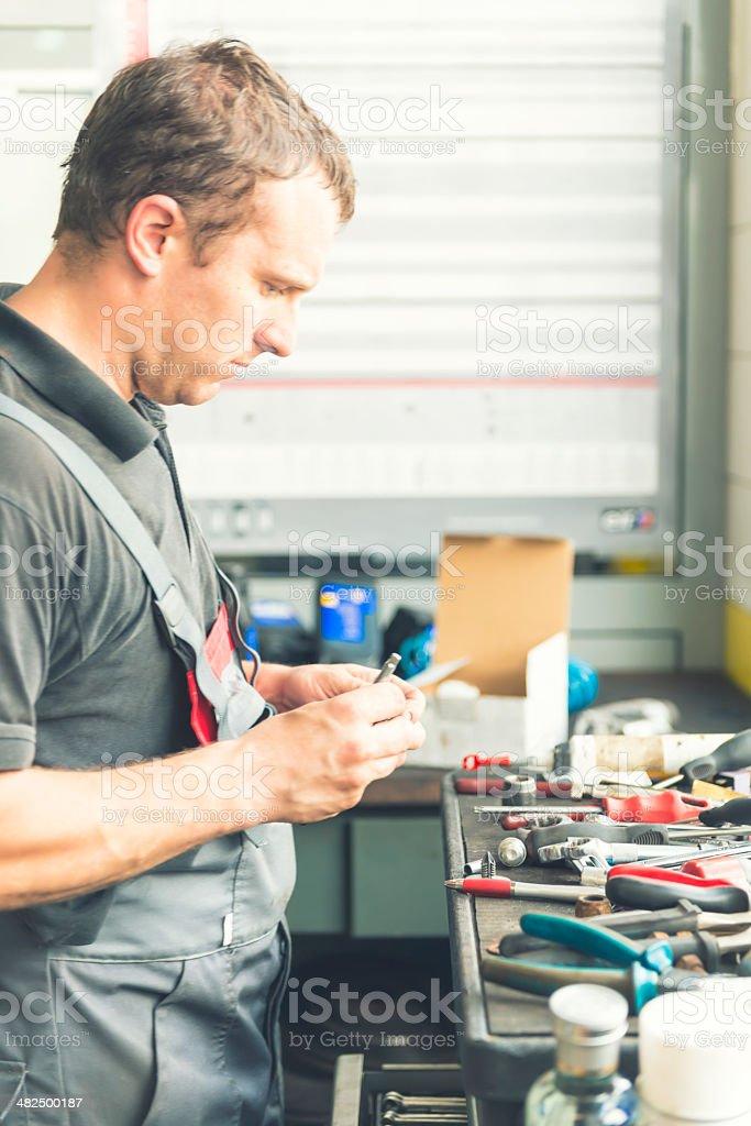 Mechanical workshop royalty-free stock photo
