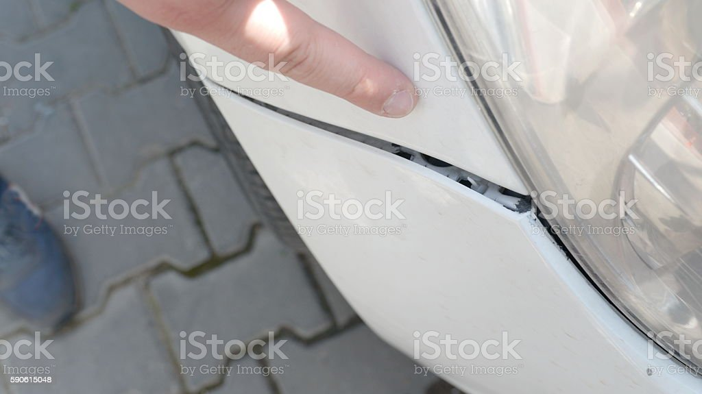 Mechanician with insurance adjuster checking on auto repair stock photo