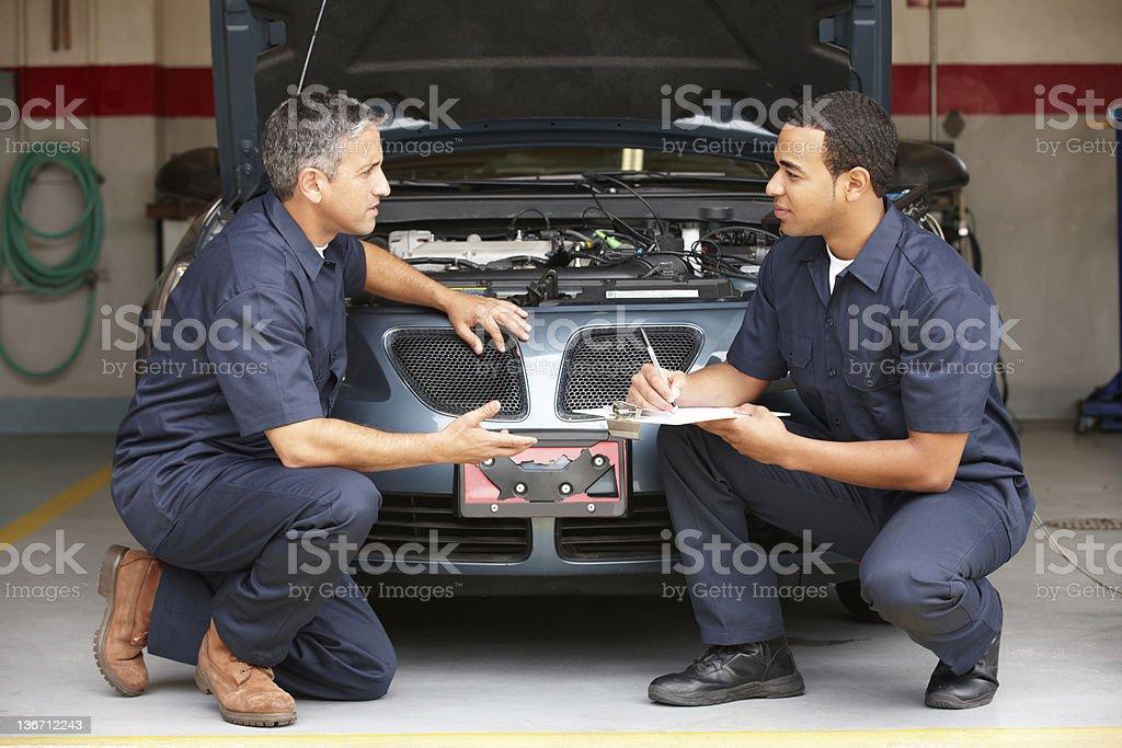 Mechanics at work royalty-free stock photo