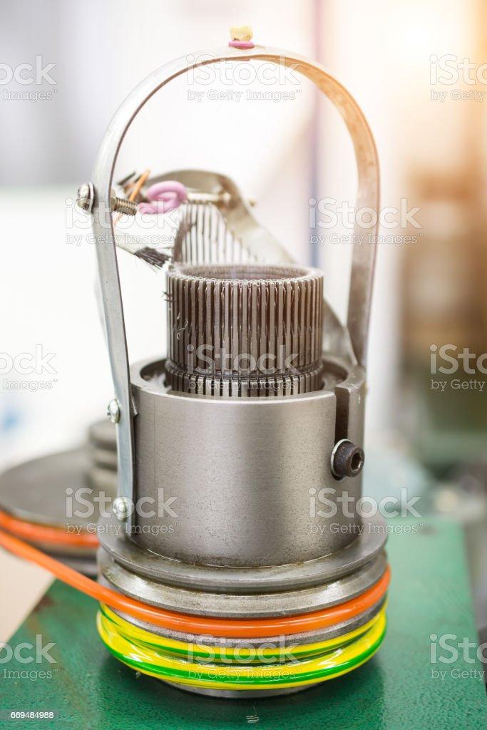 Mechanism for making metal braiding stock photo