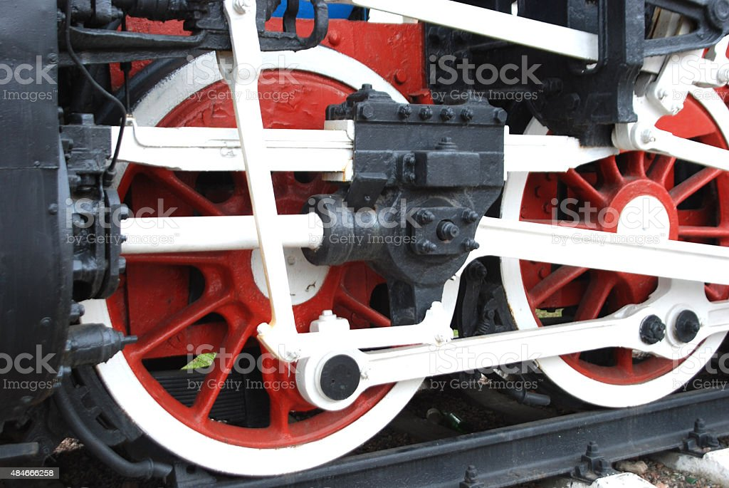 mechanism of a locomotive stock photo