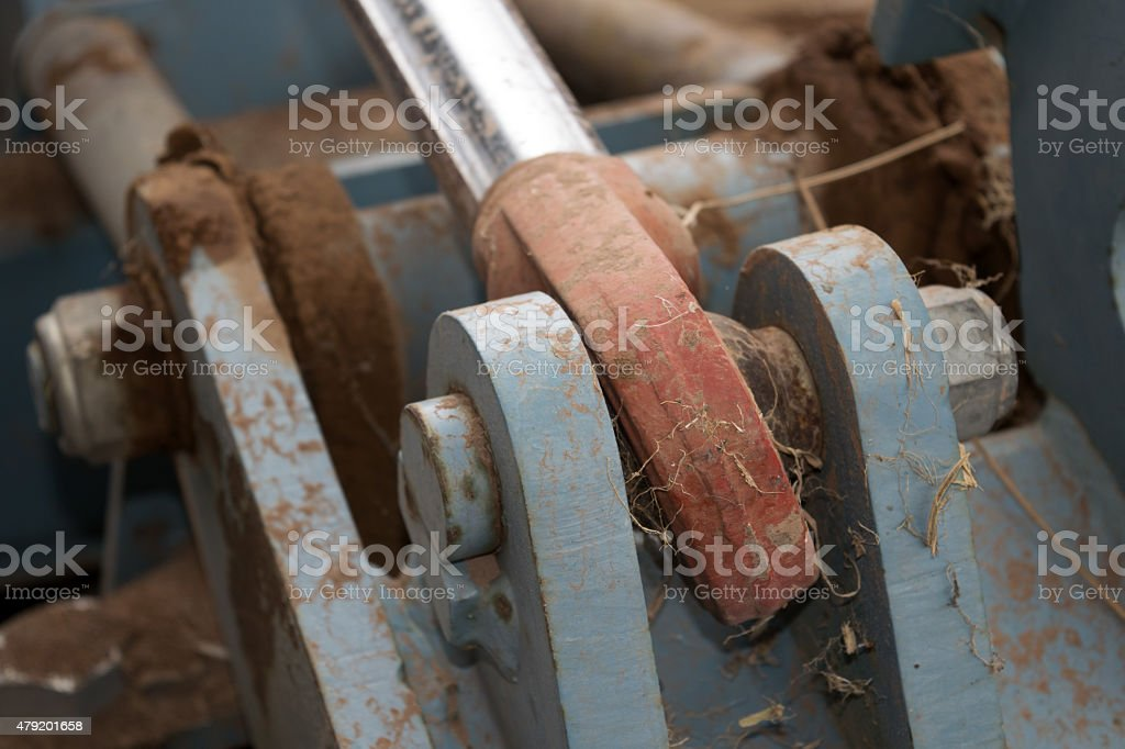mechanism of a tractor stock photo