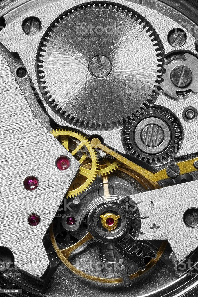 Mechanism of a watch royalty-free stock photo