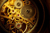 Mechanism of an old pocket watch