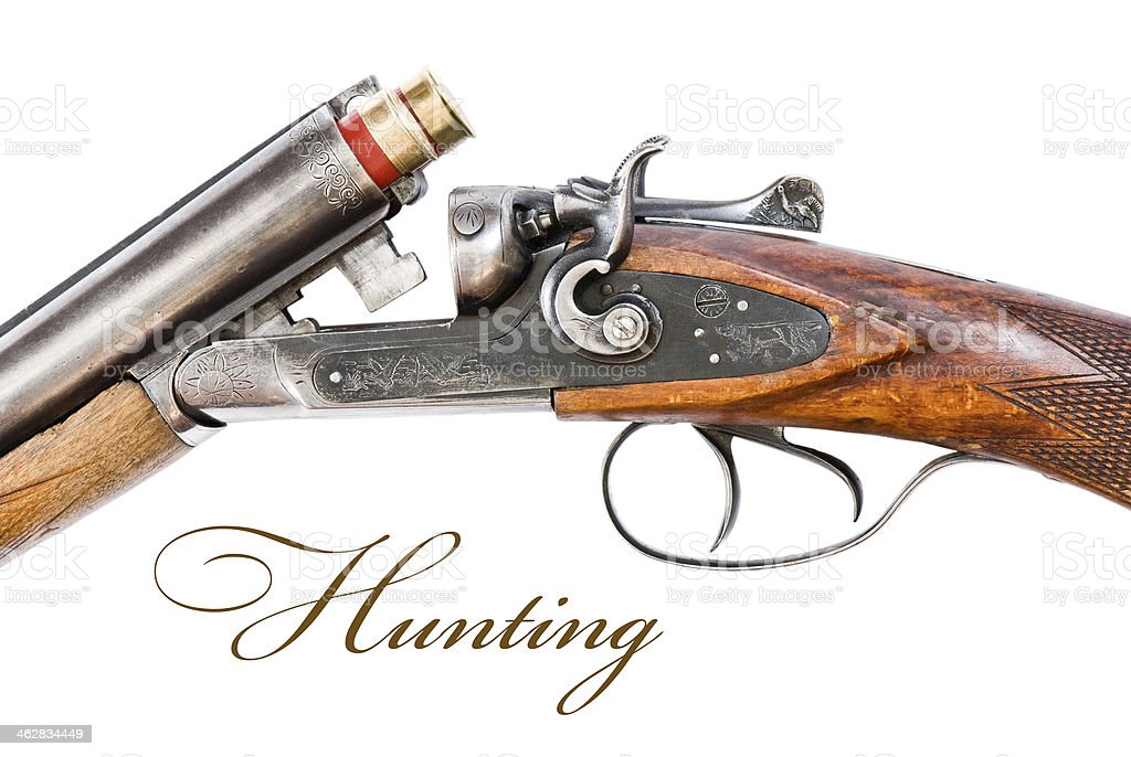 mechanism of hunting rifle stock photo
