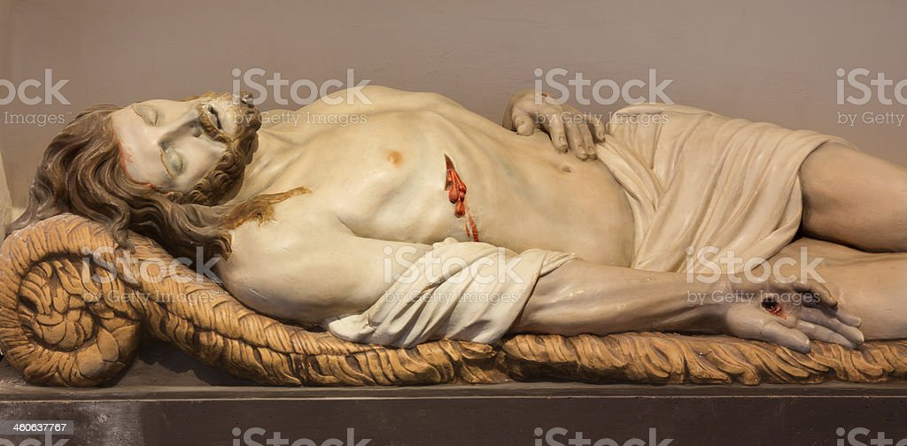 Mechele - Statue of Jesus in the tomb royalty-free stock photo