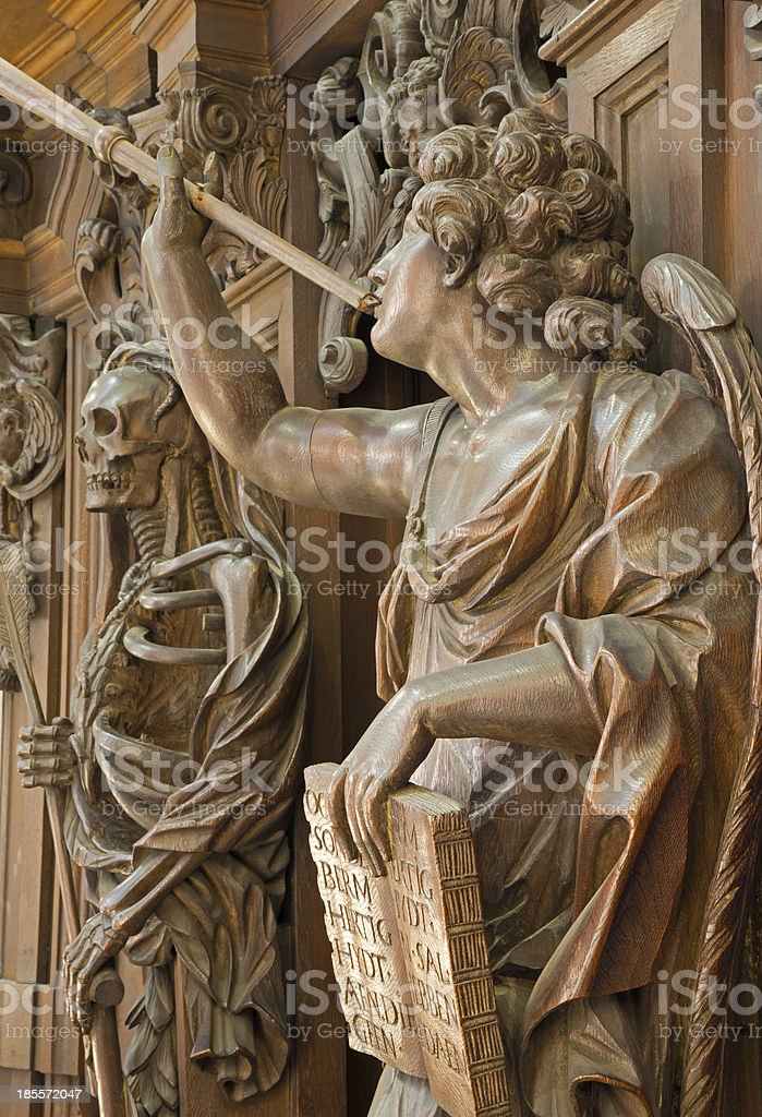 Mechelen - Carved Apocalyptic angel royalty-free stock photo