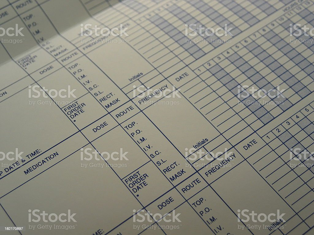 Med Kardex stock photo