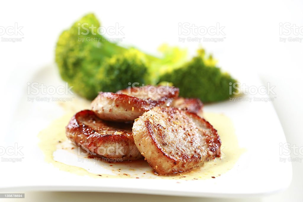 Medaillon of pork fillet stock photo