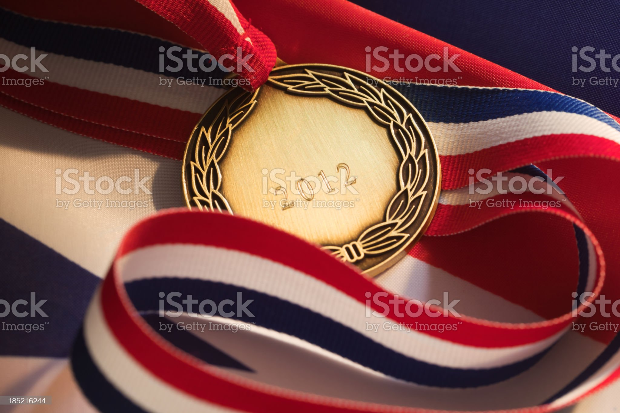 Medal 2012 royalty-free stock photo