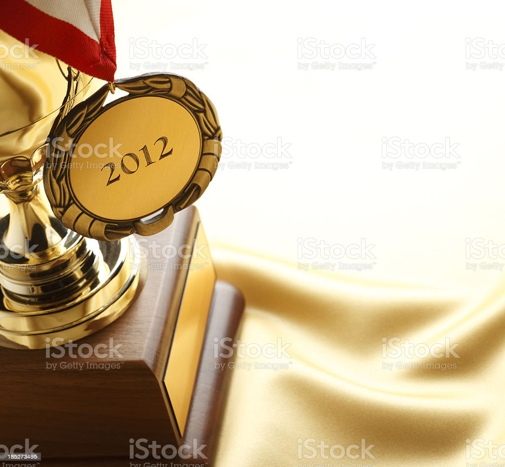 Medal and Trophy royalty-free stock photo