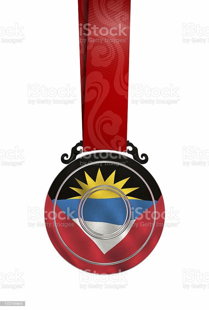 Medal Antiguan/Barbudan flag stock photo