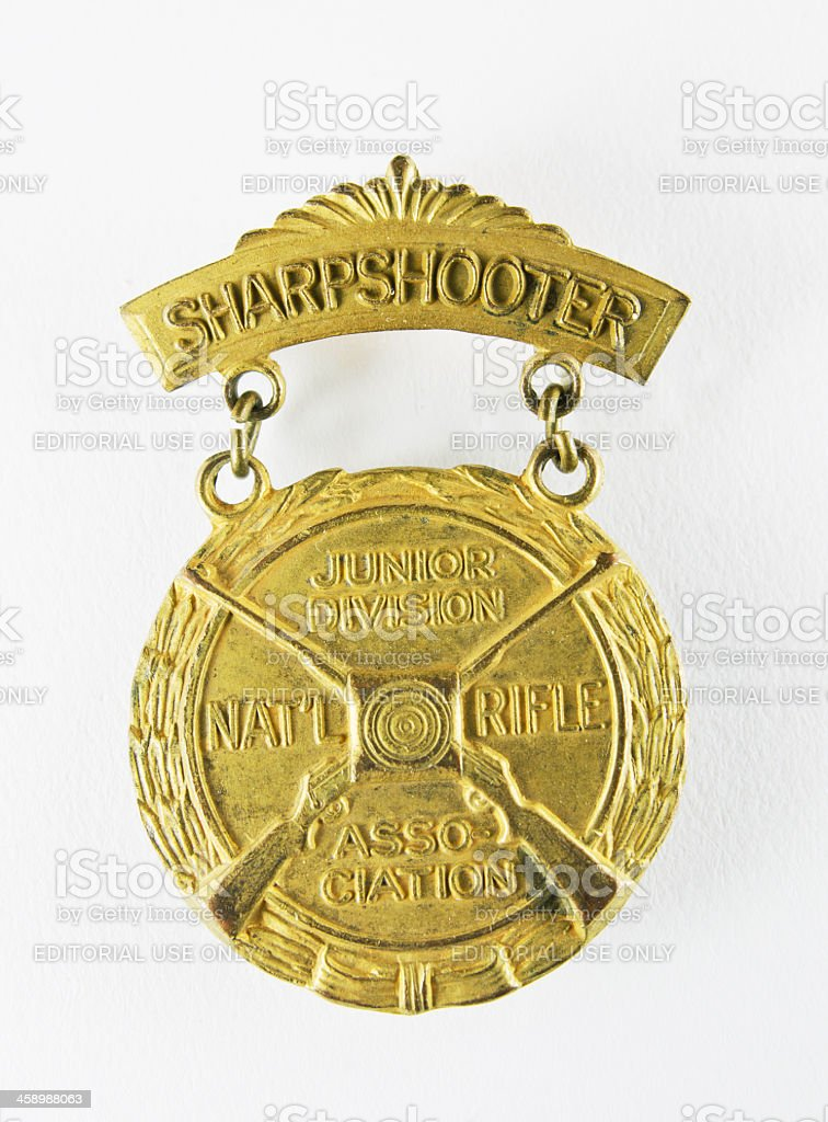 NRA Medal for Youth stock photo