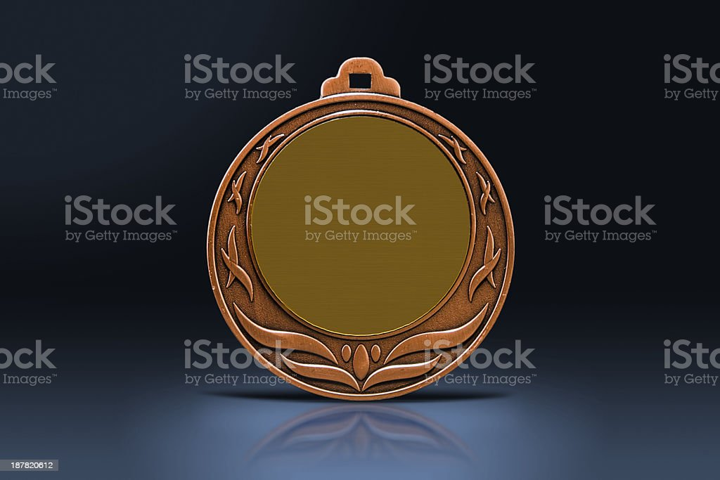 Medal in the spotlight royalty-free stock photo