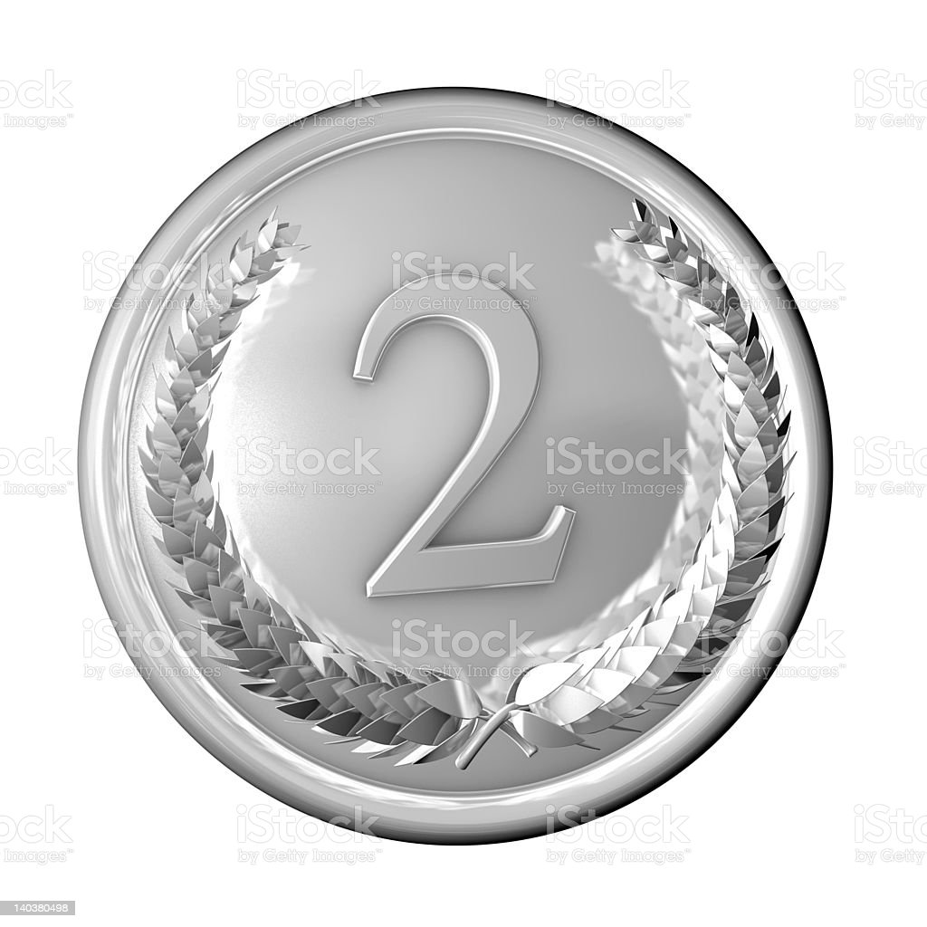 Medal Silver royalty-free stock photo