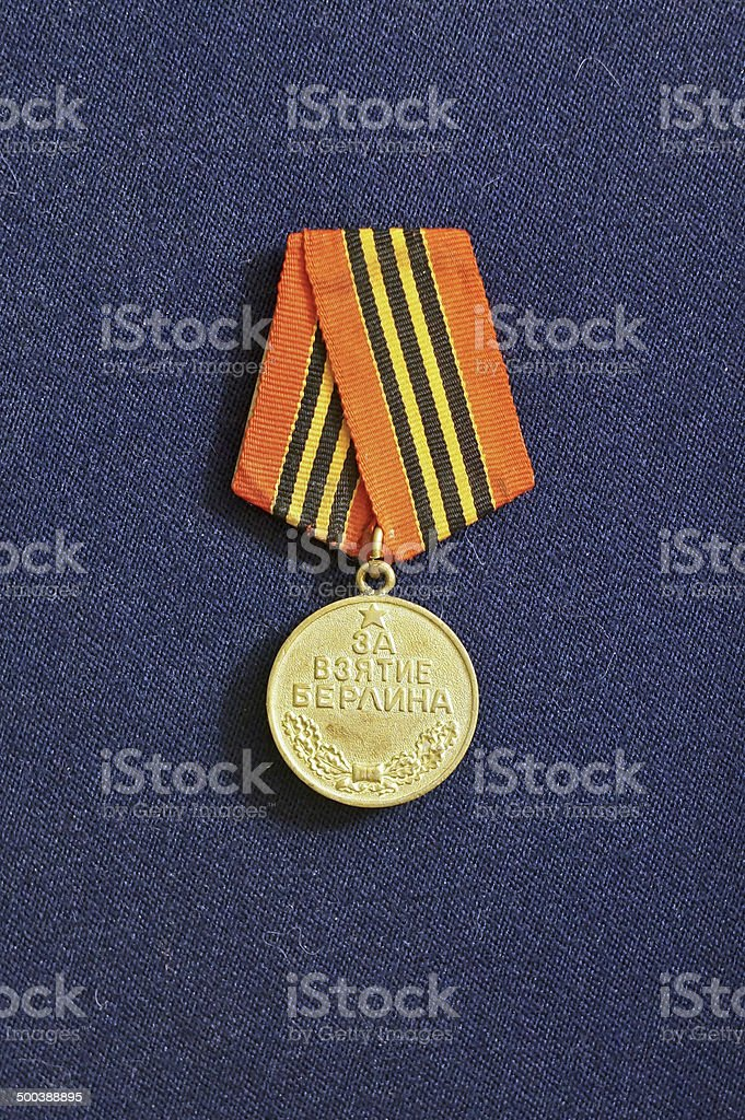 Medal since WWII  for the Capture of Berlin (USSR) stock photo