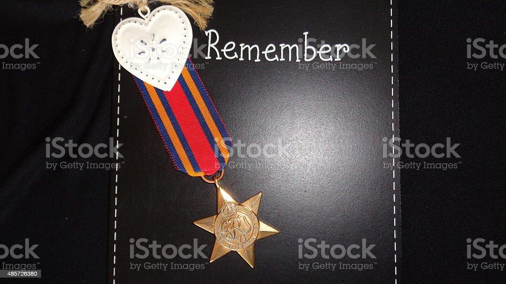 WW2 Medal The Burma Star stock photo