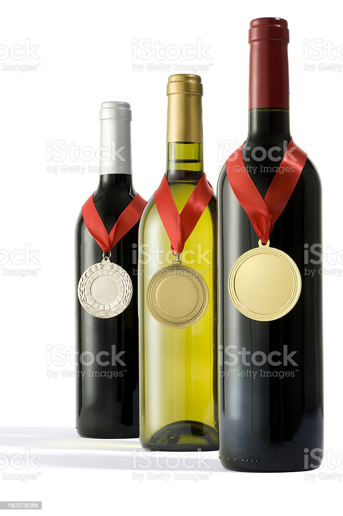 Medal Winning Wines stock photo