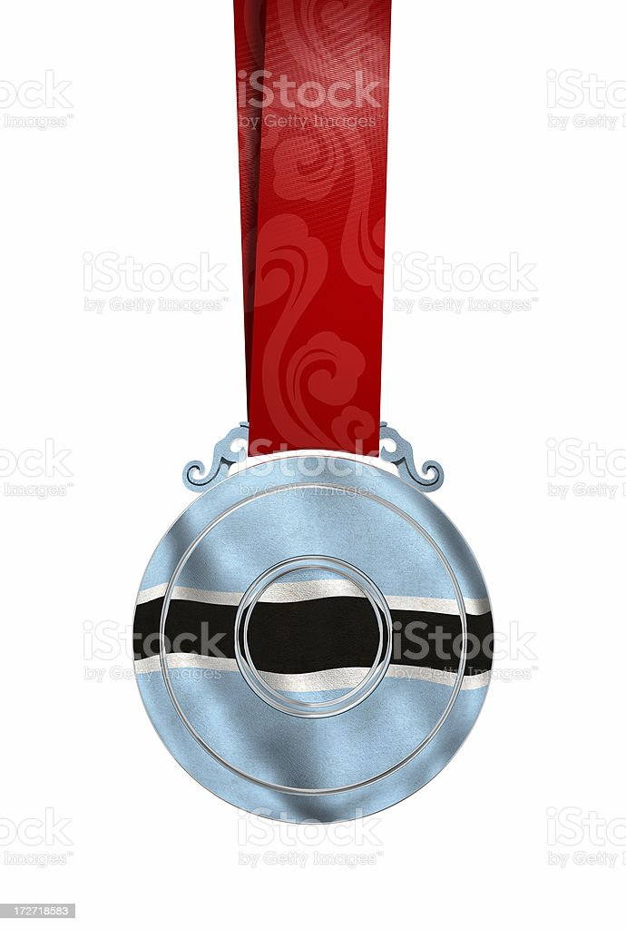 Medal with Botswana's flag stock photo