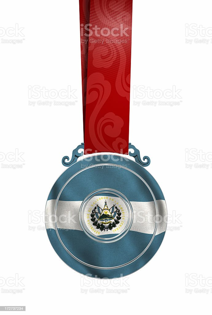 Medal with El Salvador's flag royalty-free stock photo