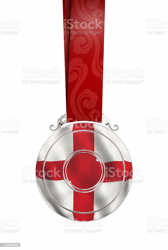 Medal with England's flag royalty-free stock photo
