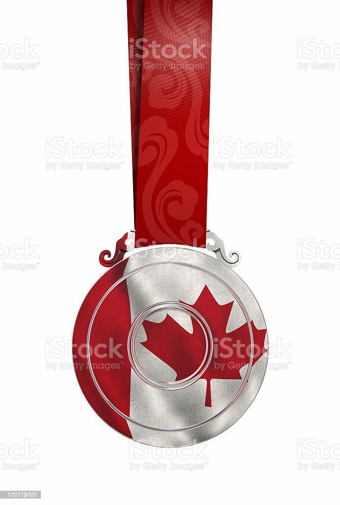 Medal with reflected flag royalty-free stock photo