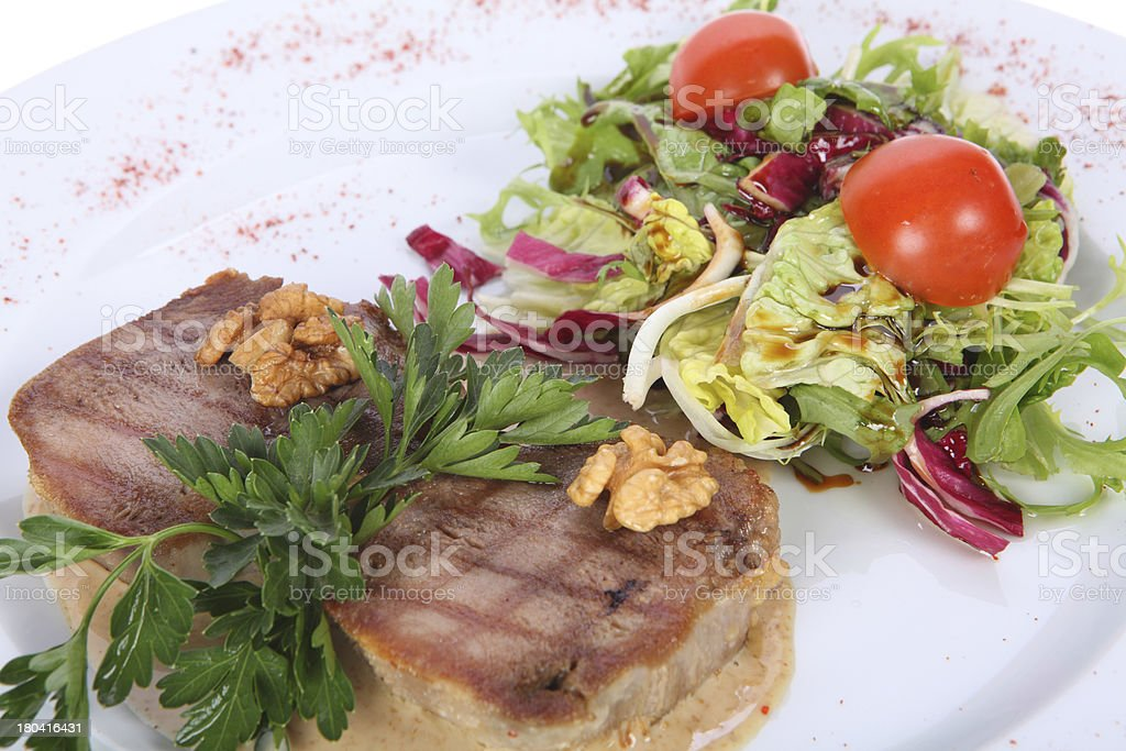 Medallions of beef fillet royalty-free stock photo
