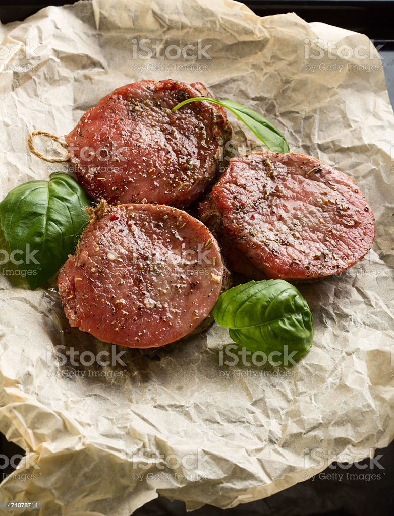 Medallions of Beef Fillet stock photo