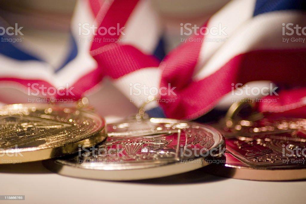 Medallions stock photo