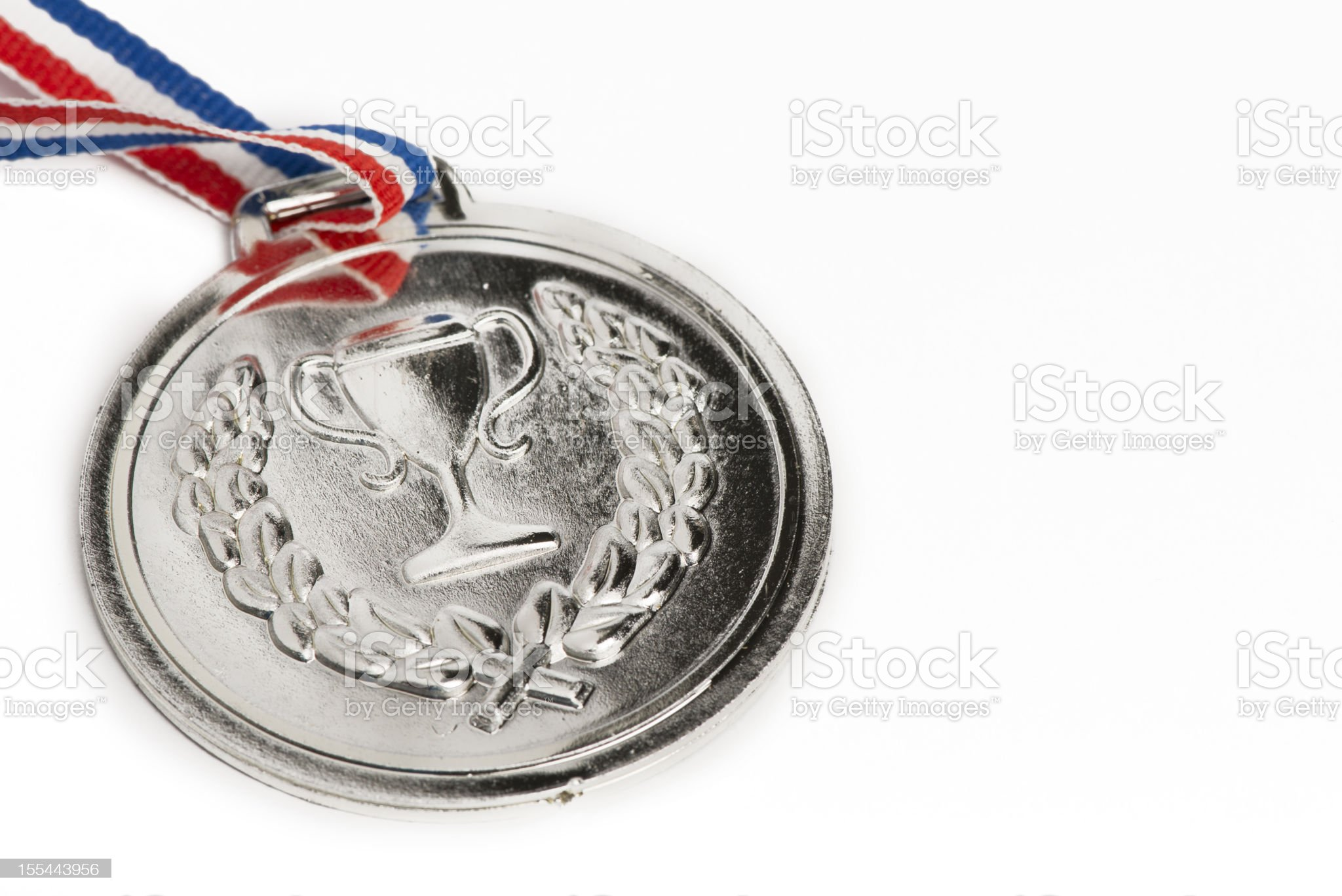 Olympic medals isolated on white: Silver royalty-free stock photo