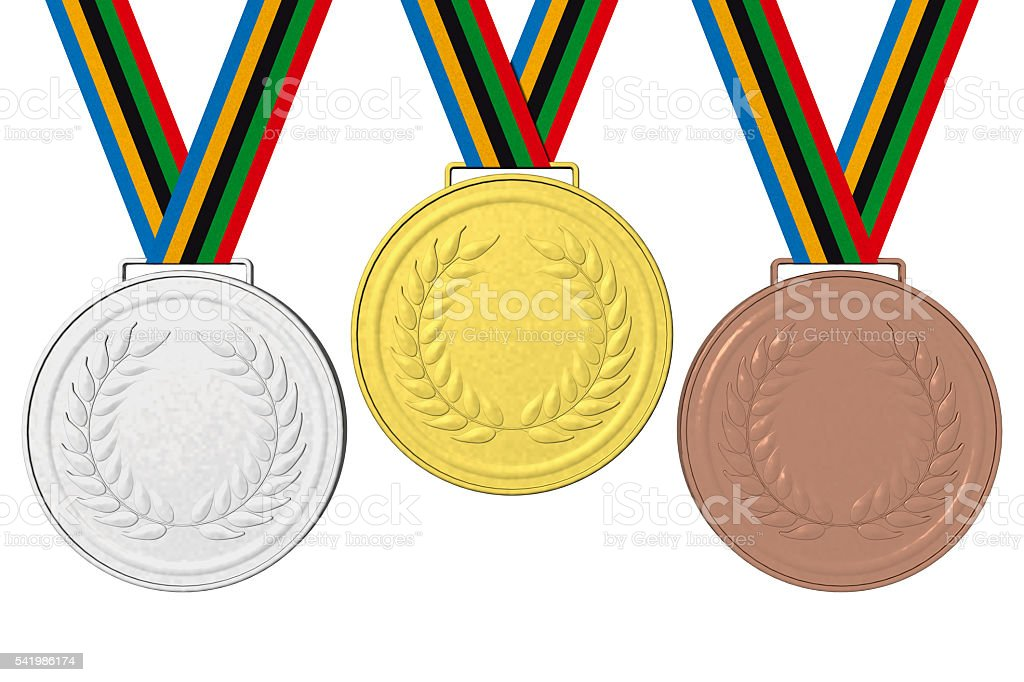 Medals Podium 001 stock photo