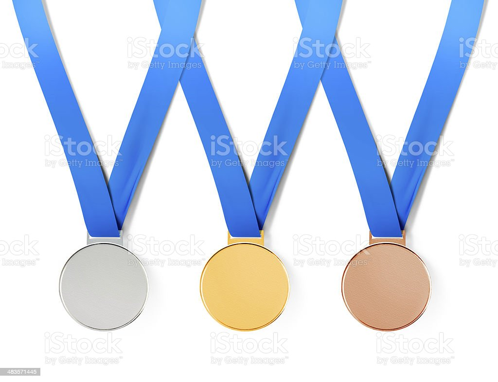 medals with path stock photo