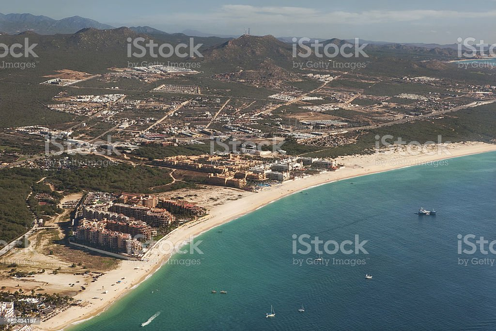 Medano Beach Cabo San Lucas Aerial View stock photo