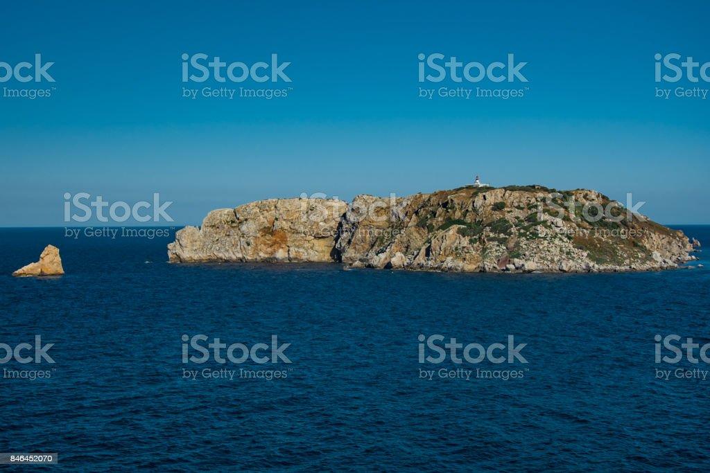 Medas Islands on the Costa Brava stock photo