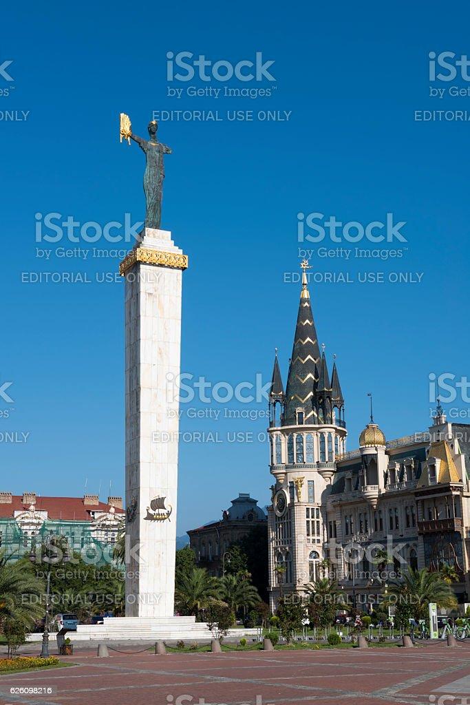 Medea monument in Batumi, Georgia stock photo