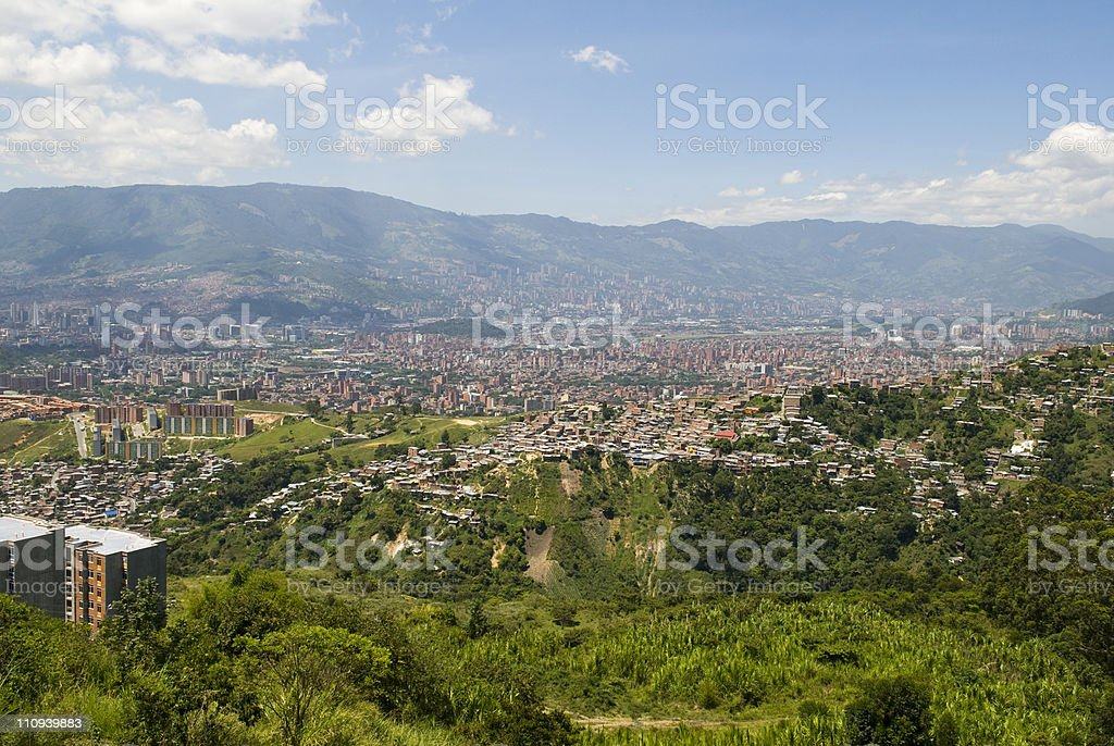 View of Medellin, Colombia stock photo