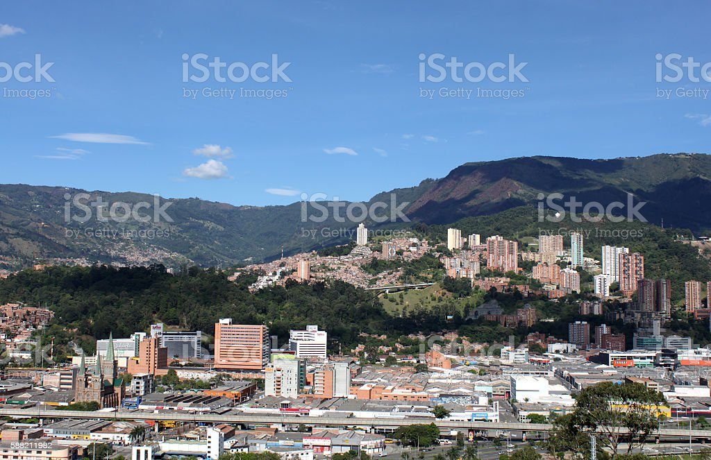 Medellin downtown. Colombia Landscape stock photo