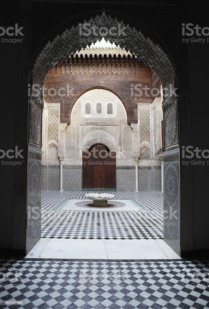 Medersa Bou Inania, Fez, Morocco royalty-free stock photo