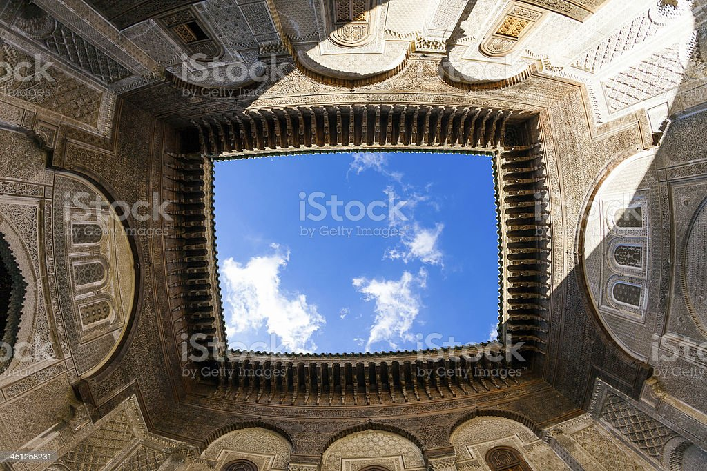 Medersa Bou Inania in Fez, Morocco royalty-free stock photo