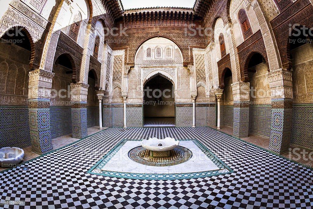 Medersa Bou Inania in Fez, Morocco royalty-free stock photo