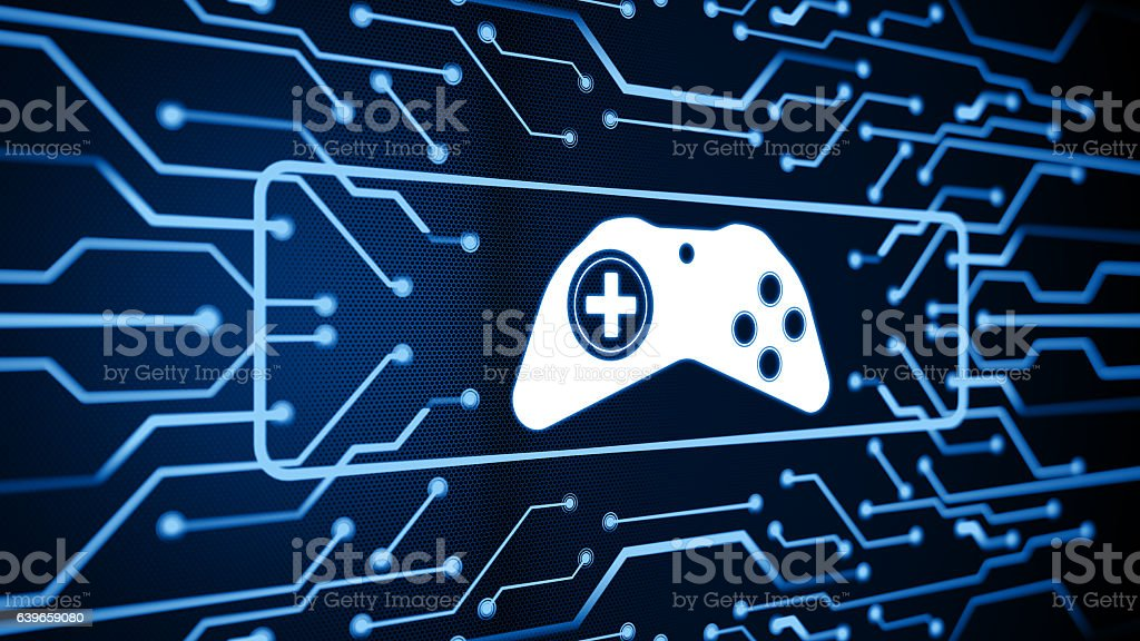 Media and games digital concept stock photo