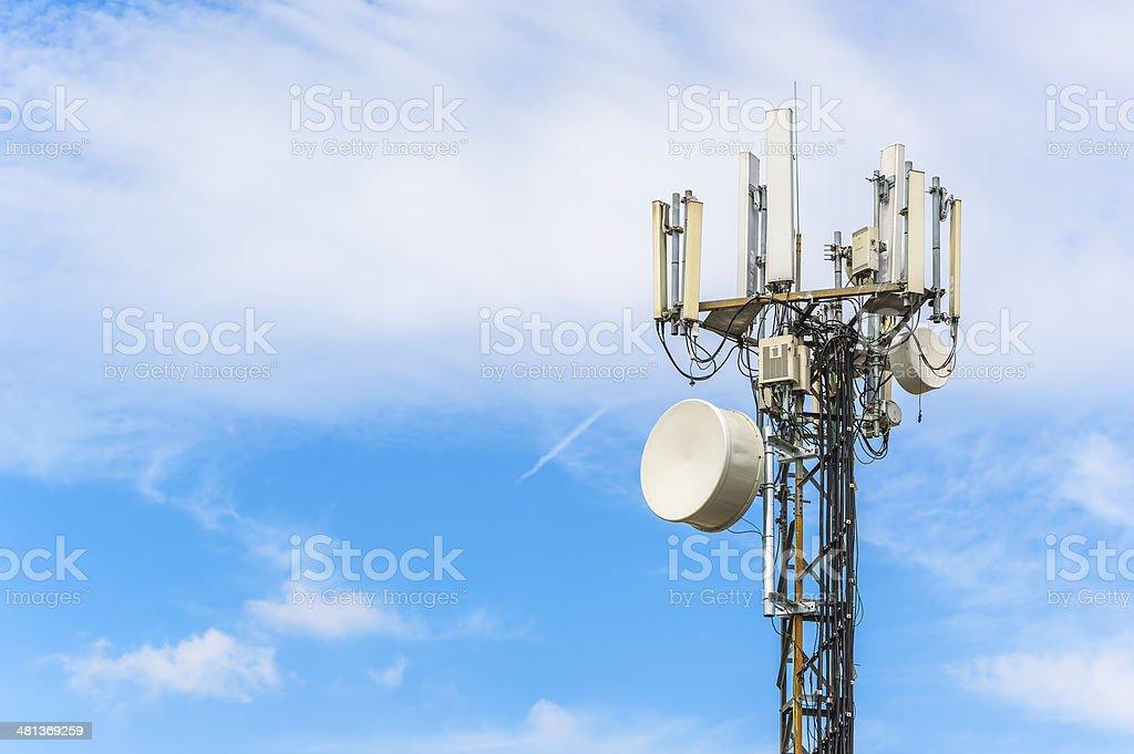 Media antenna stock photo