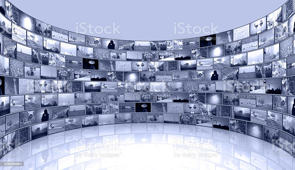 media background - telecommunications and TV stock photo