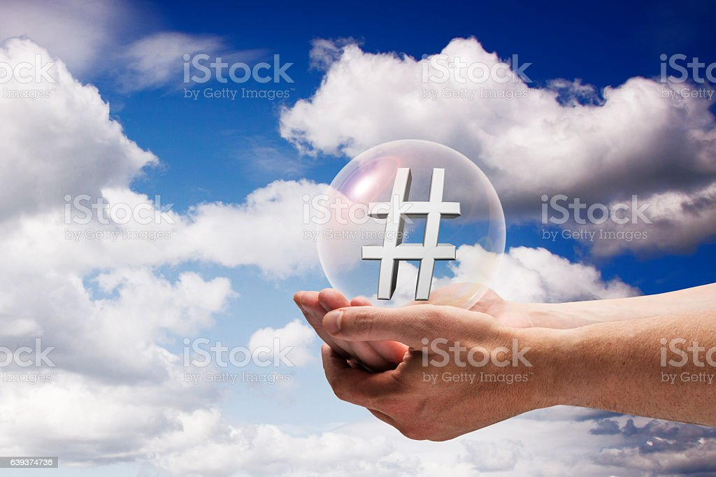 Media Bubble stock photo