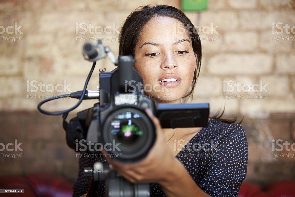 media: camera operator stock photo