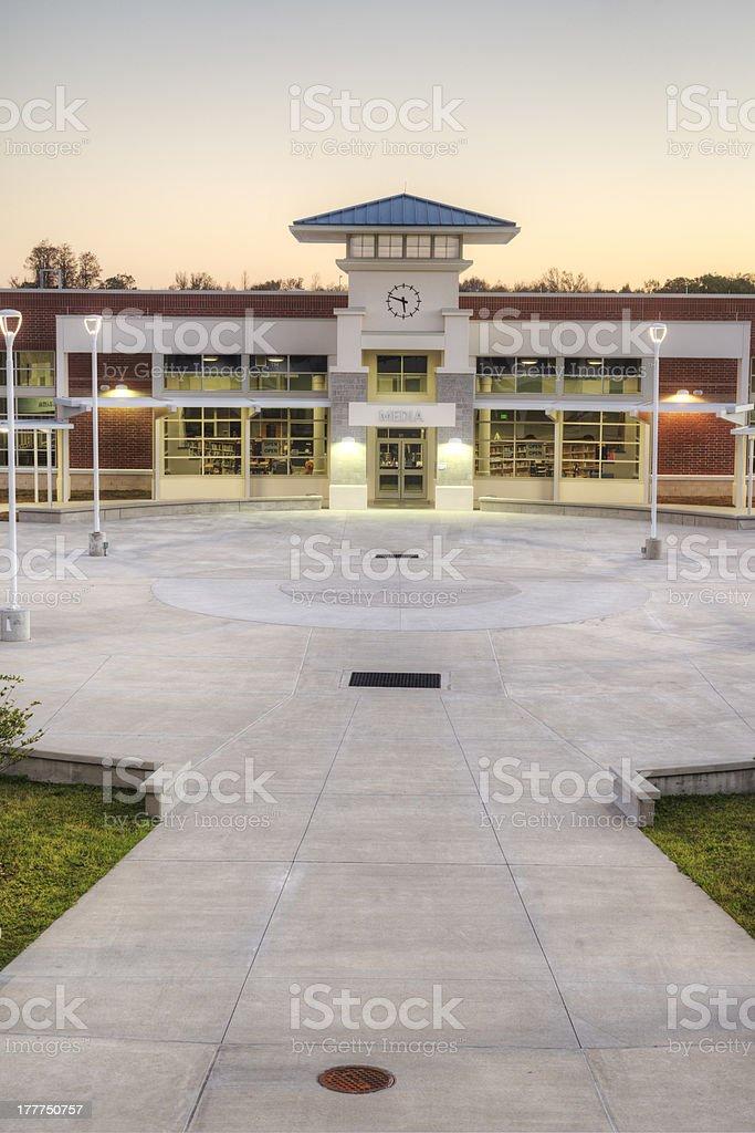 Media Center at High School royalty-free stock photo